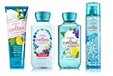 Bath & Body Works SHEER COTTON & LEMONADE Deluxe Gift Set - Body Lotion - Body Cream - Fragrance Mist & Shower Gel Full Size