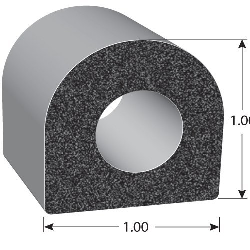 """100/' Length 3M RVs 0.5/"""" Width High Strength Tape System EPDM Foam Seal with BT 0.38/"""" Height Thick Wall Trucks Ideal Door and Window Weather Seal for Cars Trim-Lok D-Shaped Rubber Seal and Boats"""