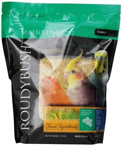 RoudyBush Daily Maintenance Bird Food, Crumbles, 44-Ounce ()