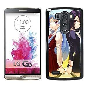 Custom Anime Kannagi Nagi Zange Dress Smile Girls Cross Microphone Sunflower LG G3 cell phone case