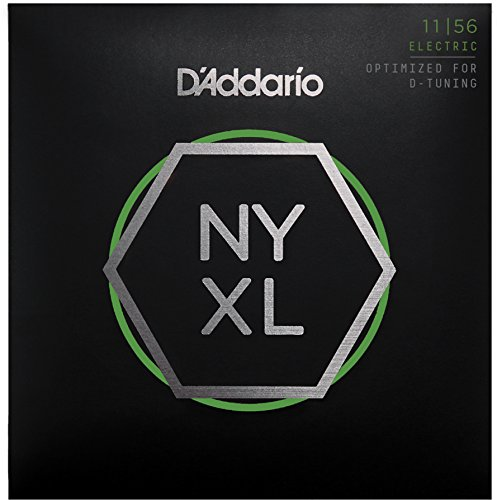 D'Addario NYXL1156 Nickel Wound Electric Guitar Strings, Medium Top/Extra-Heavy Bottom, 11-56