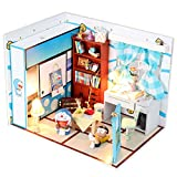 Cuteroom Dollhouse Miniature DIY House Kit with Cover Artwork Gift Angel Dream Doraemon Room