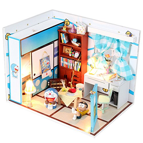 Dollhouse Miniature DIY House Kit with Cover Artwork Gift