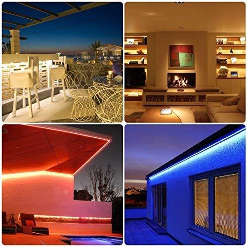 LEN Led Strip Lights 16.4 Feet Waterproof 150LEDs 5050 RGB Light Strip Complete Kit by LEN (Image #8)