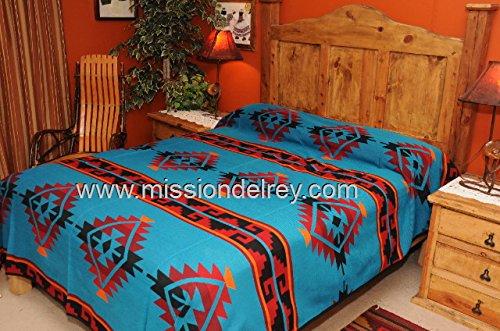 Mission Del Rey Southwestern Bedspreads -Tesuque Pattern KING