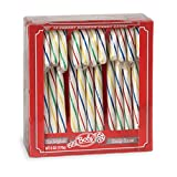 Bobs Cherry Rainbow Candy Canes, 12 Cane Box, Pack of 48