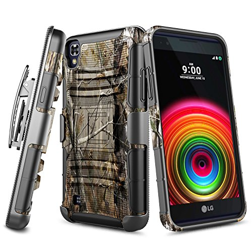 LG Tribute HD Case, LG X Style Case, NageBee [Heavy Duty] Armor Shock Proof Dual Layer [Swivel Belt Clip] Holster with [Kickstand] Combo Rugged Case For LG L53B/L56VL/LS676/LG Volt 3 - Camo