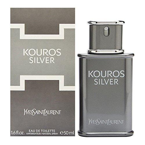 Yves Saint Laurent Kouros Silver Eau de Toilette Spray for Men, 1.6 Ounce