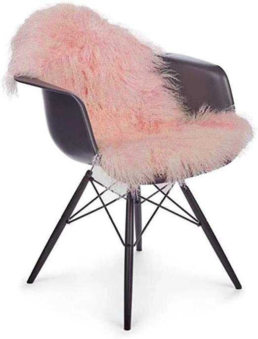 GENUINE REAL PINK SHEEPSKIN In PEACHY PINK STUNNING Eco Pelt *SALE*