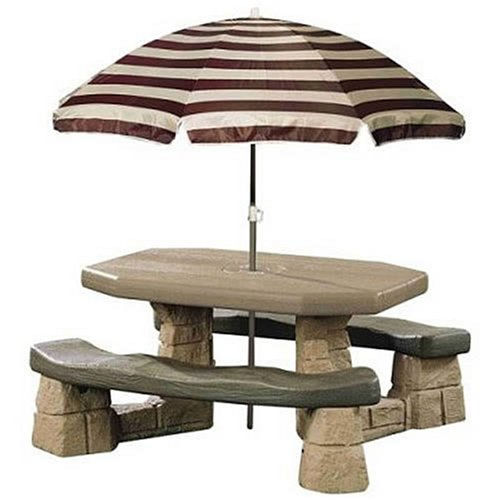 step 2 picnic table Amazon.com: Step2 Naturally Playful Picnic Table with Umbrella  step 2 picnic table