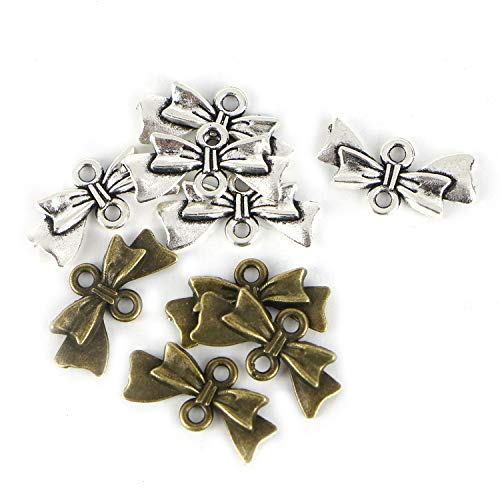 - Monrocco 100pcs Bow Tie Handmade Charms Pendant Jewelry Making Charms