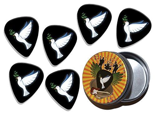 Dove Olive Branch Christian 6 X Logo Guitar Picks & Stash Tin (GD) ()