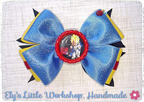 Vageta, TV inspired character Hair Bow, French Barrette Clip, Girls. Unique