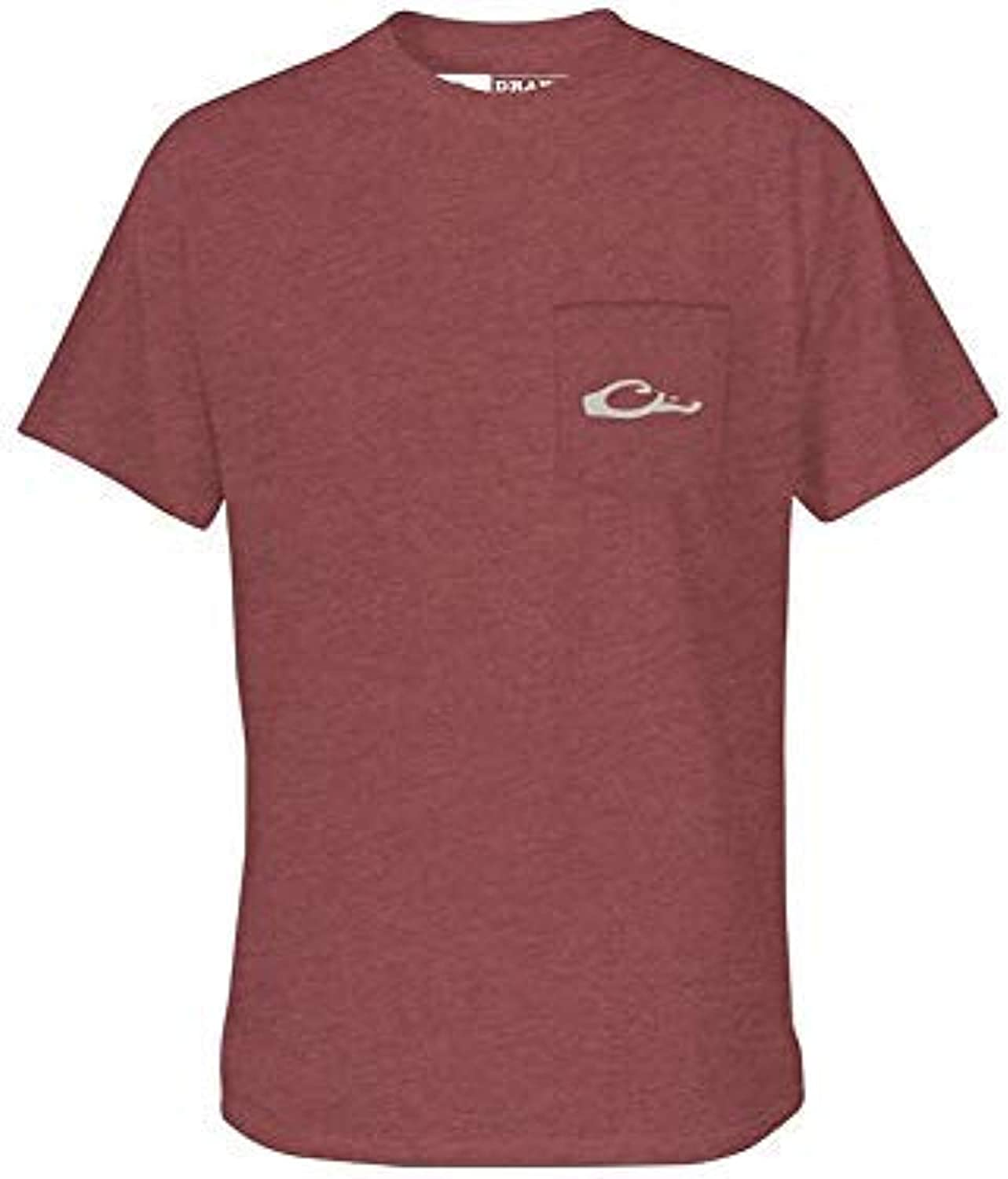B07VDTX9ZS Drake Standing Black Lab T S/S Maroon Heather LG 51G2FgVicZL