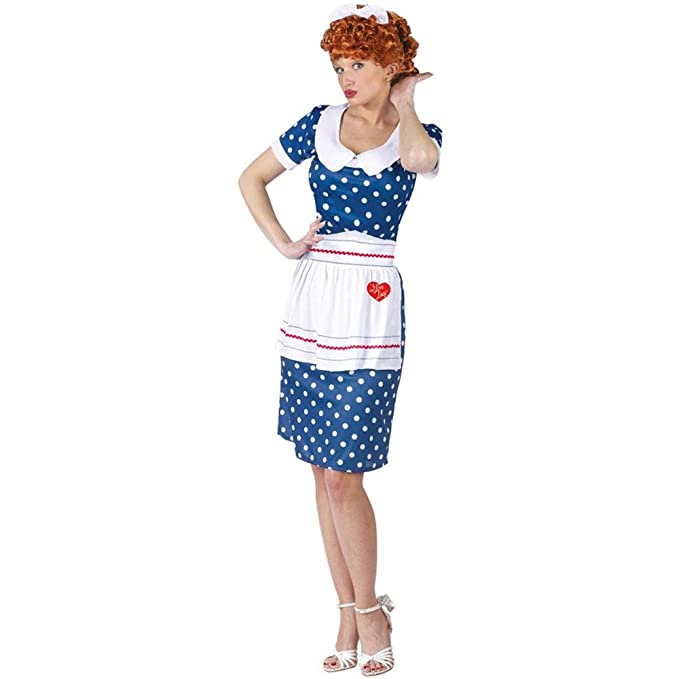 1950s Costumes- Poodle Skirts, Grease, Monroe, Pin Up, I Love Lucy I Love Lucy Sassy Adult Costume  AT vintagedancer.com