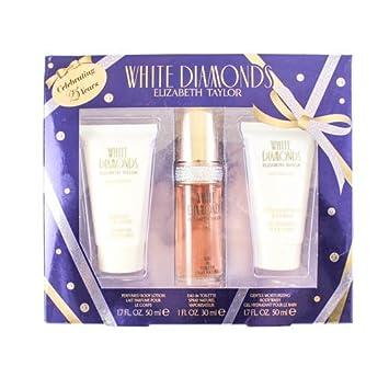 Elizabeth Taylor White Diamonds 3 Piece Gift Set for Women, 1.0 Ounce