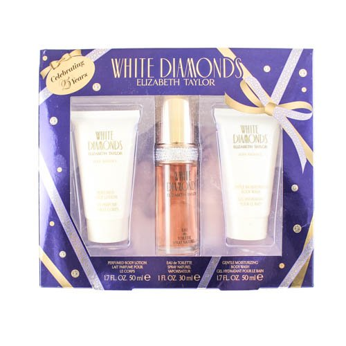 Elizabeth Taylor White Diamonds 3 Piece Gift Set for Wome...
