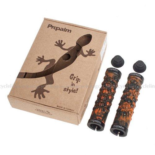 PROPALM Handlebar Grips TPR Rubber Lock-on Grips for MTB Folding Bike Fixed Gear (Orange)