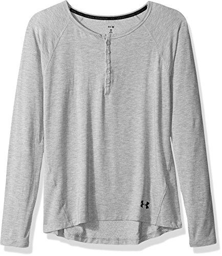 Under Armour Women's Athlete Ultra Comfort Recovery Henley Sleepwear,True Gray Heather /Carbon Heather, Medium ()