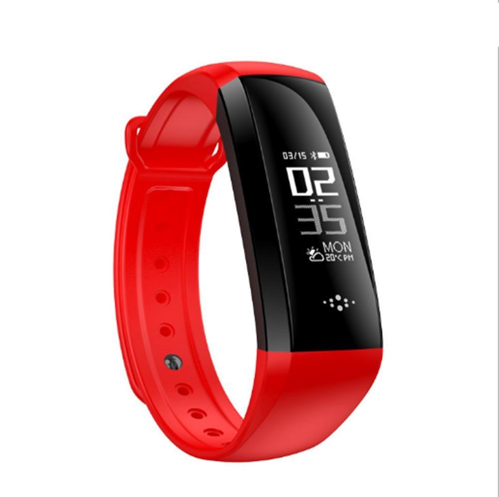 Peculiar Pulsera Inteligente Pulsera Fitness Pantalla LED Monitor de Ritmo cardíaco IP67 Botón de Tacto Impermeable