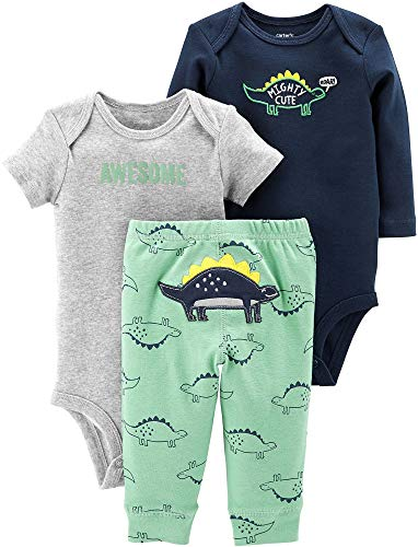 Carter's Baby Boys' 3-Piece Little Character Sets (Mighty Cute, Newborn)