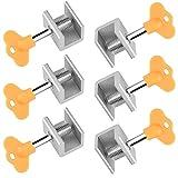 6 x WINKO Sliding Window Locks Adjustable Door Frame Security Lock with Key