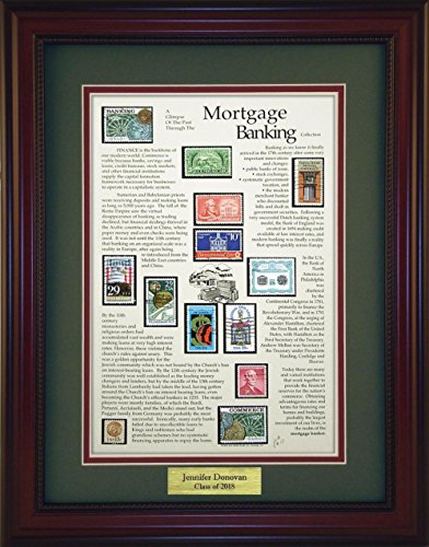 Mortgage Banking - Unique Framed Collectible (A Great Gift Idea) with Personalized Engraved Plate