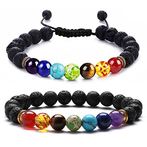 Authentic Jewelry Set (J. Fée BLACK FRIDAY SALE- Healing Gemstone 8mm Round Natural Semi Precious Stones Beaded Stretch Bracelet Jewelry 7
