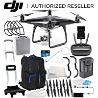 DJI Phantom 4 PRO Obsidian Edition Drone Quadcopter (Black) Starters Travel Backpack Bundle