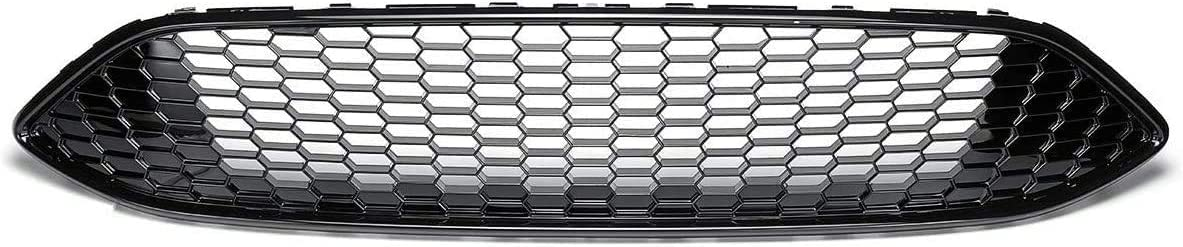 Silver,Red Black YBNB Car Front Bumper Honeycomb Mesh Center Grill Panel Grille Fit For Ford For Focus Mk3 St Line 2015 2016 2017