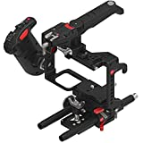 JTZ DP30 Camera Cage Baseplate DSLR Rig & Top Handle+Electronical Handle Grip for Panasonic Lumix GH3 GH4 GH5