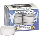 Yankee Candle Midnight Jasmine Tea Light Candles, Floral Scent