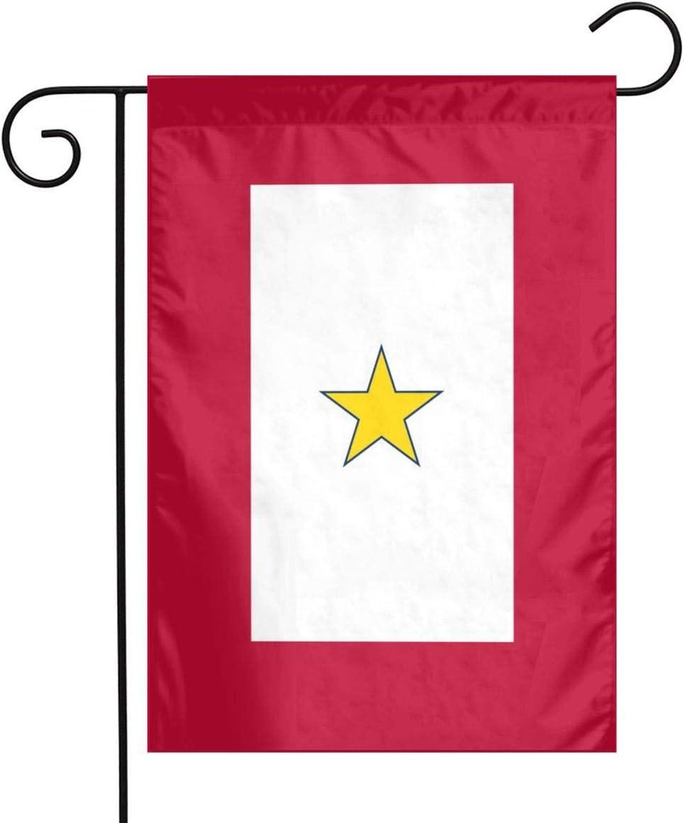Alin-Z Garden Flag Decoration Gold Star Service Star Mother's Flag Banner Decorative Sweet Home Yard Outdoor Decor 12X18inch