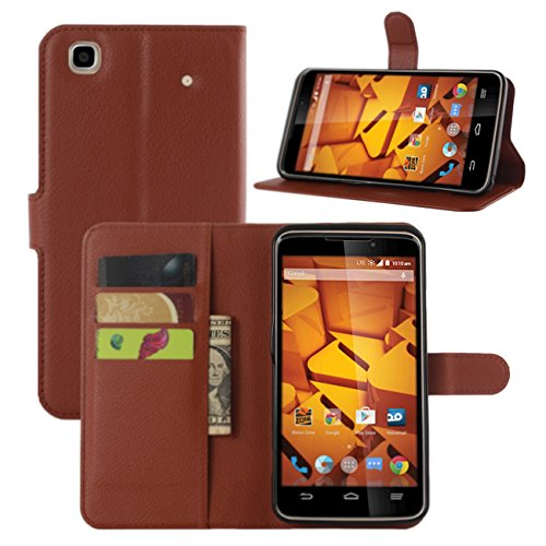 ZTE Boost Max+ Cases, Premium PU Leather Wallet Flip Case Cover with Stand Card Holder for ZTE Boost (Boost Mobile Phones Cases Max)