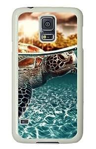 Samsung Galaxy S5 Case and Cover - Sea Turtle PC Hard Case Cover for Samsung Galaxy S5 White