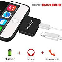 iPhone 7 8 X Plus Adapter Dual Lightning Charger and Headphone Jack Audio Apple Earphone Splitter