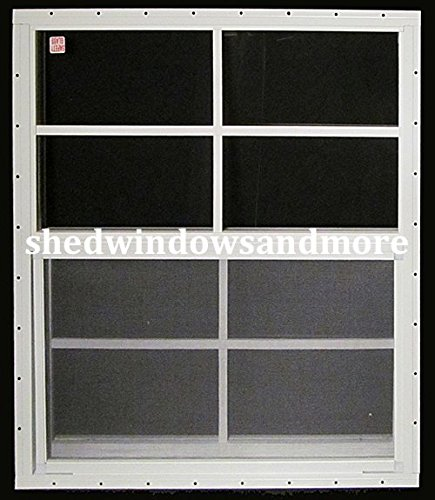 "Shed Windows 24"" X 36"" White Flush Mount SAFETY/TEMPERED ..."