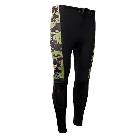 MonkeyJack 2.5mm Neoprene Men Women Wetsuit Long Pants UV Sun Protection  Swimwear for Surfing Swimming 8a28e94621be6