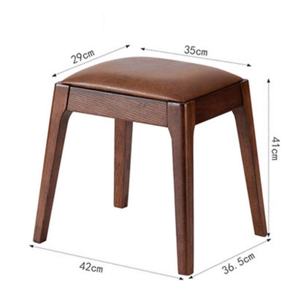 QPSGB - 木製ベンチ 木製ベンチ - ソリッドウッドスツール生地化粧スツールドレッシングスツールスクエアスツールクリエイティブベンチコンピュータベンチ (Color : D) B07T8YXB3H D