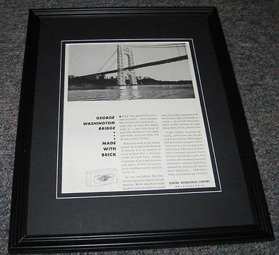 (General Refractories ORIGINAL 1951 Framed Advertisement Promotional Photo 8x10)