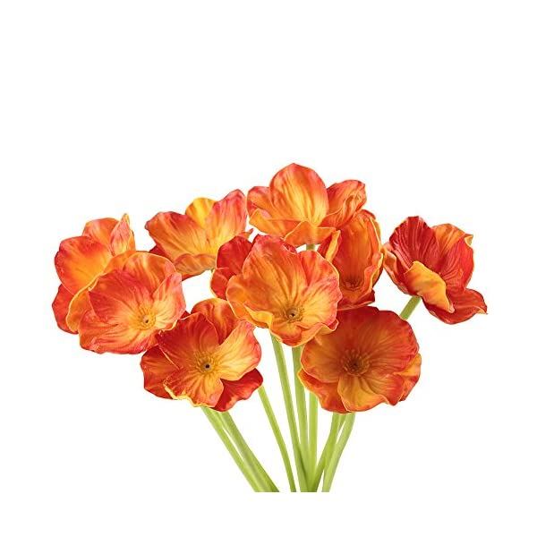 Artificial-Flowers-Meiwo-10-Pcs-Fake-Poppies-Flowers-for-Wedding-Bouquets-Home-Decor-Party-Graves-Arrangement