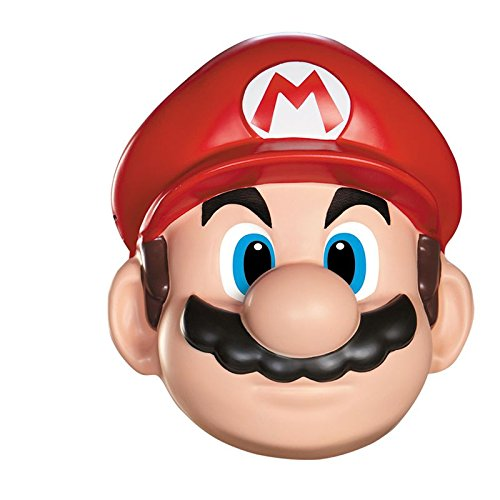 Disguise Men's Nintendo Super Mario Bros.Mario Adult Mask Costume Accessory, Red/White/Brown, One Size ()