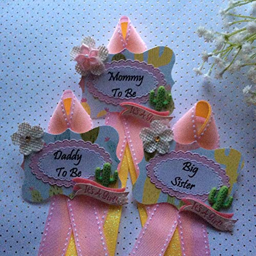 Kaktus Theme Baby Shower Corsage Tags, Kaktus Theme, for sale  Delivered anywhere in USA