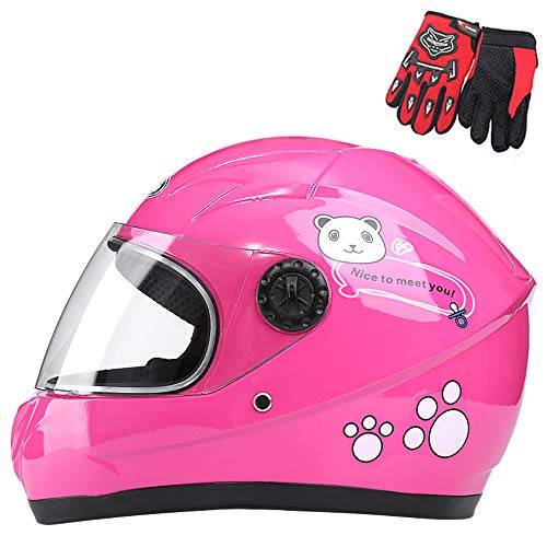 ZJRA Kinderhelm, Motorradhelm Für Kinder, Motorrad Halbhelme, Motorrad Moped Jungen Mädchen Kinder Childs, 3 Farben…