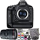 Canon EOS-1D X Mark II DSLR Camera with EF 16-35mm f/4L IS USM Lens 6PC Accessory Bundle – Includes 3PC Filter Kit (UV + CPL + FLD) + MORE - International Version (No Warranty)