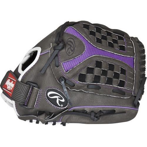 Rawlings 社製 ソフトボール用グローブ Storm Youth シリーズ B01H723B04 Grey Purple 12.5 Worn on Left Hand Grey Purple 12.5