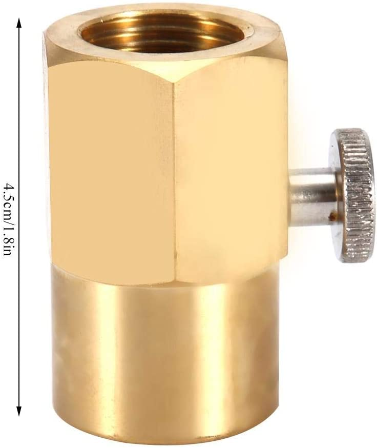 Soda Bottle CO2 Connector Brass Household Adapter for Filling W21.8 to G1//2 Water Cylinder Inflatable Joint Turn