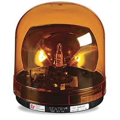 Federal Signal 448142-02 Sentry Halogen Beacon, Class 1, CAC Title 13, Magnet Mount with Amber Dome: Automotive