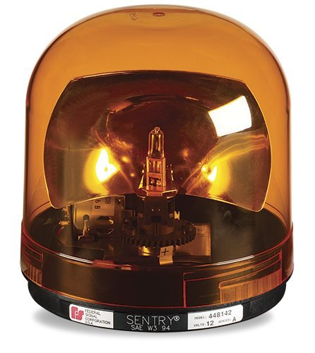 Federal Signal 448142-02 Sentry Halogen Beacon, Class 1, CAC Title 13, Magnet Mount with Amber Dome