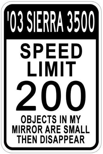 Amazon Com 2003 03 Gmc Sierra 3500 Speed Limit Sign